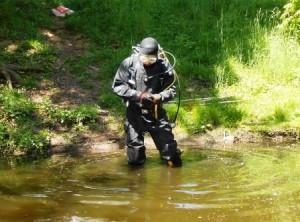 pyrotechnik - potápěč