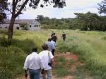 procházka minovým polem v Angole