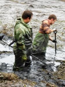 Pyrotechnici v rybníku