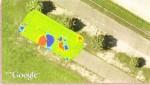 Výsledek měření exportovaný do satelitního snímku